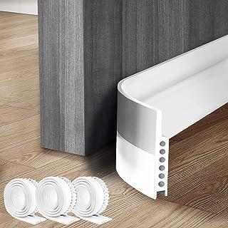 3 Pack Door Draft Stopper Under Door Seal for Exterior/Interior Doors, Strong Adhesive Door Sweep Soundproof Weather Strip...