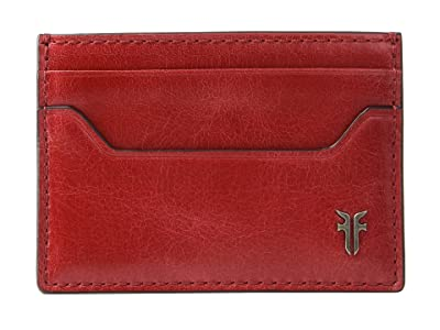 Frye Austin Card Case (Red) Handbags
