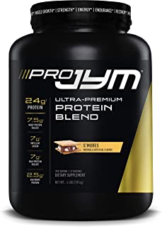 Pro JYM Protein Powder - Egg White, Milk, Whey Protein Isolates & Micellar Casein | JYM Supplement Science | S'Mores, 4 lb