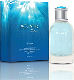 NEW Aquatic Tides Eau De Toilette Spray for Men, 3.4 Ounce 100 Ml - Scent Similar to Light Blue