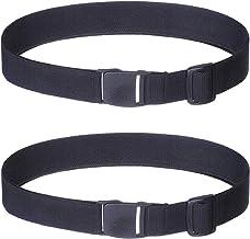 Women Invisible Elastic Adjustable Belt - 2Pcs Girls & Women No Show Stretch Belt Plastic Flat Square Buckle