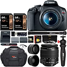 Canon EOS Rebel T7 DSLR Camera Travel Bundle with 58mm 2X Professional Telephoto &..