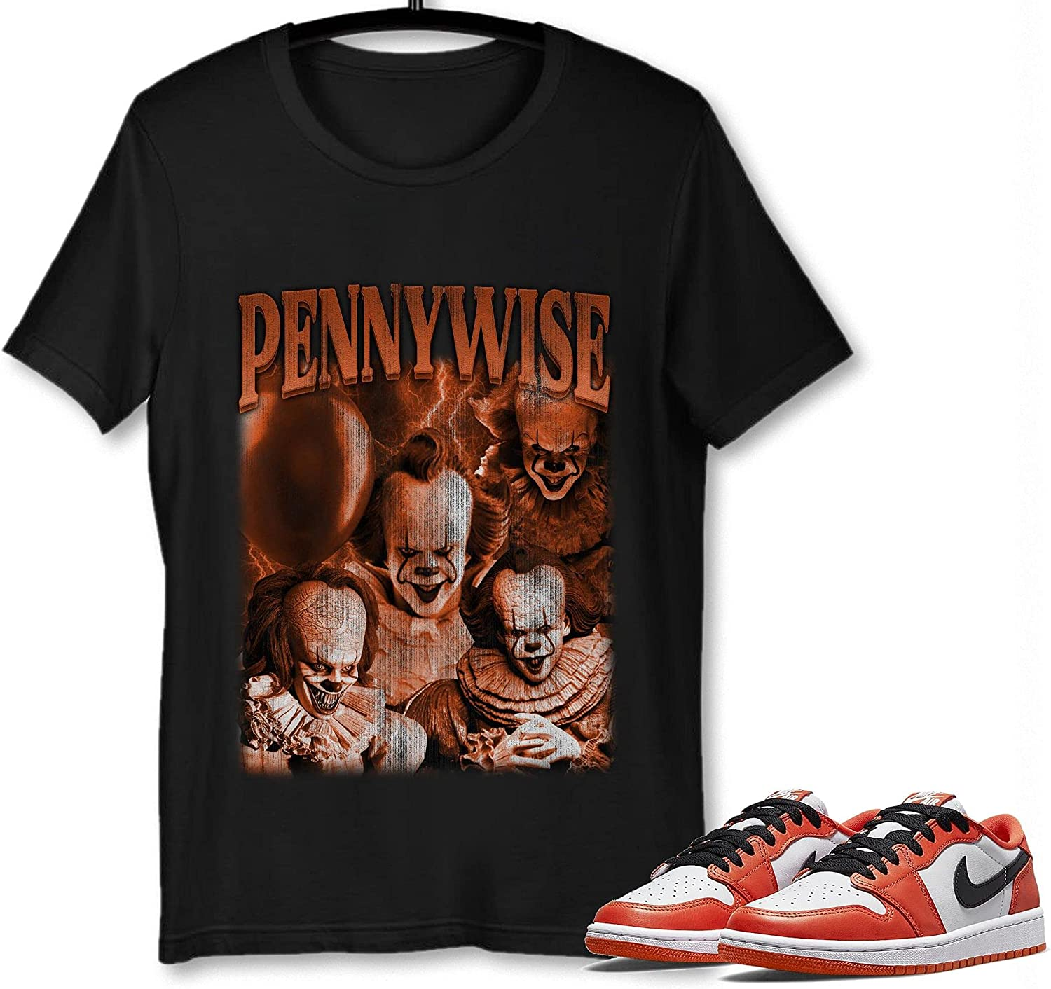 #Pennywise T-Shirt to Match Jordan 1 Low Recommended OG Sneaker Starfish Denver Mall Snk