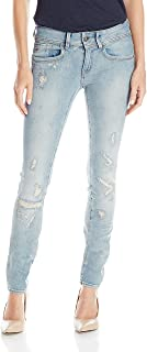 G-Star Raw Women's Lynn Mid Rise Skinny Fit Jean in Notto Stretch