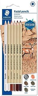 Staedtler Mars Lumograph Pastel 100P Design Journey - Blister Pack of 6 Assorted Pastel Pencils