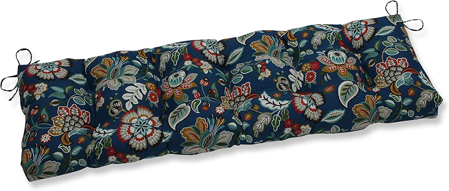 Pillow Perfect Outdoor/Indoor Telfair Peacock Tufted Bench/Swing Cushion, 60