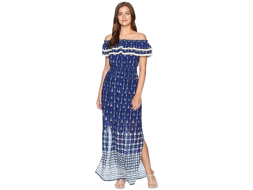 Miss Me Off Shoulder Maxi Dress (Navy) Women