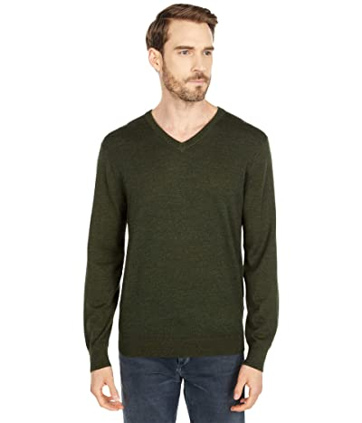 J.Crew Xinao Merino V-Neck (Heather Loden) Men
