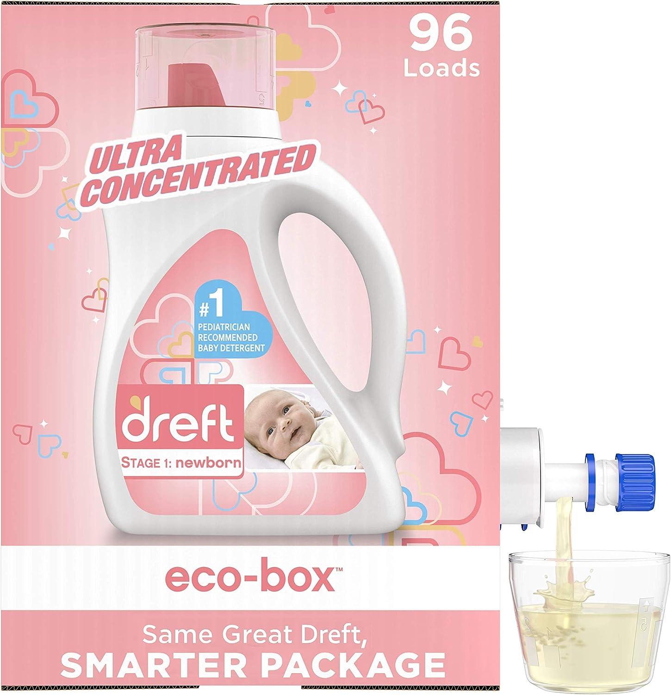 Dreft 人気激安 Stage 1: Baby Liquid Eco-Box Laundry 送料無料激安祭 Natur Soap Detergent