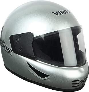 Virgo Airzed Glossy Finish Clear Visor Helmet (Silver)