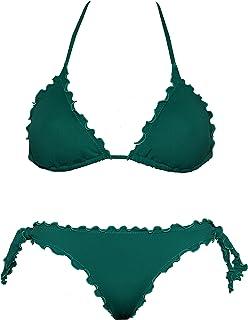 Bikinicolors Bikini Triangolino Frou Frou con Slip o Brasiliana | Made in Italy