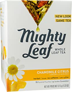 Mighty Leaf Tea Chamomile Citrus Hot Tea Bags, 15 ct