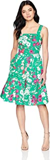 Eliza J womens Floral Sleeveless Fit and Flare Dress Dress
