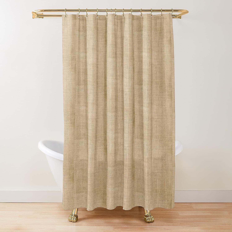 Rustic Burlap Custom Virginia Beach Mall Design Super special price Fabric Cust Shower Printed Curtains