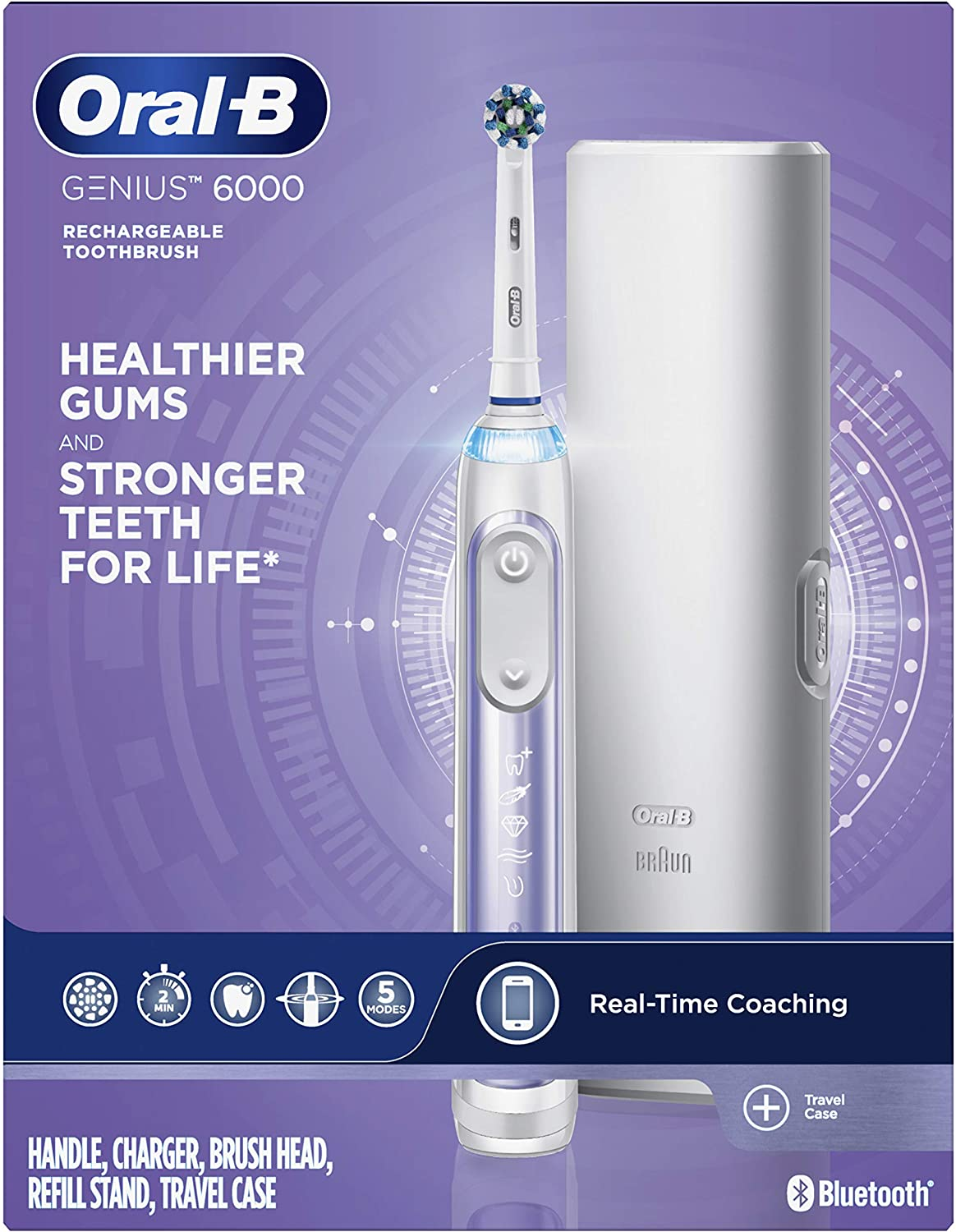 Oral-B Genius 6000 New mail order Electric Jacksonville Mall Purple Toothbrush Orchid