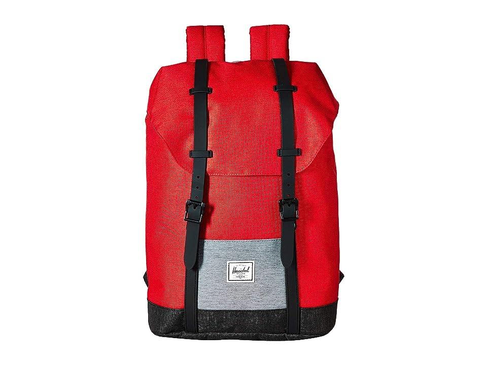 Herschel Supply Co. Kids Retreat Youth (Little Kids/Big Kids) (Barbados Cherry Crosshatch/Mid Grey Crosshatch/Black Crosshatch) Backpack Bags