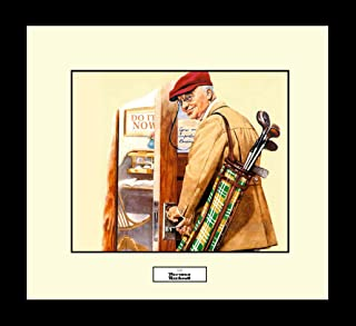 norman rockwell golf prints