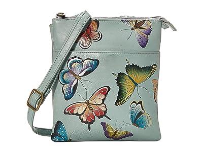 Anuschka Handbags RFID Blocking Triple Compartment Travel Organizer 596 (Butterfly Heaven) Handbags