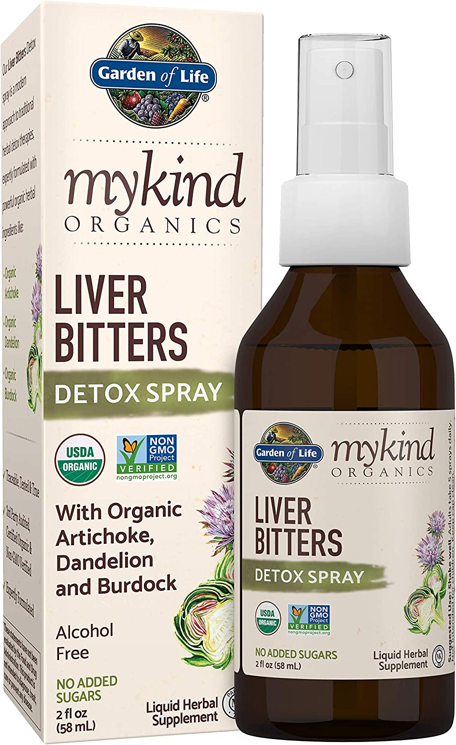 Al sold out. Garden of Life mykind Organics Bitters Liver Online limited product Spray Detox