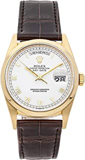 Rolex Day-Date Mechanical (Automatic) White Dial Mens Watch 18208 (Certified Pre-Owned)
