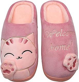 Mishansha Pantofole Donna Uomo - Calde Leggere Morbide Comode e Antiscivolo