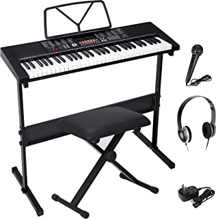 ZENY 61-Key Portable Electric Keyboard Piano with Built In S