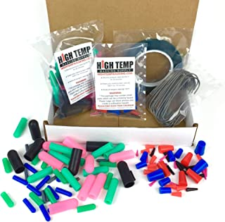 124 Piece High Temp Silicone Plug, Cap, Masking Tape and Hook Assortment - Complete