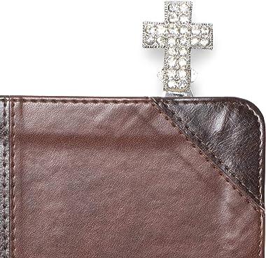 Jeweled Silverstone Cross 4 inch Zinc Alloy Bookmark