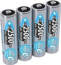 ANSMANN 4x Batterie ricaricabili stilo AA - 2500 mAh 1,2V NiMH - Pila a ricarica veloce - fino a 1000 cicli di ricarica ec...