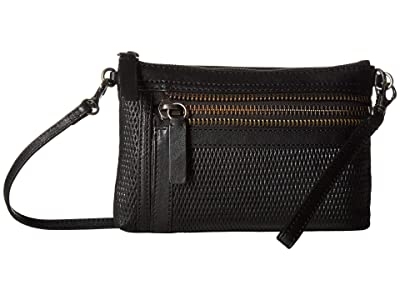 Frye Lena Perf Wristlet Crossbody (Black) Handbags