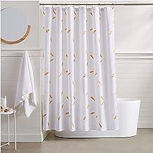 AmazonBasics Metallic Gold Feathers Shower Curtain - 72 Inch