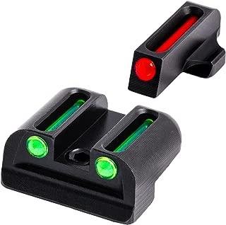 TRUGLO Fiber-Optic Front and Rear Handgun Sights for Sig Sauer Pistols, Sig #6 Front / #8 Rear Sets