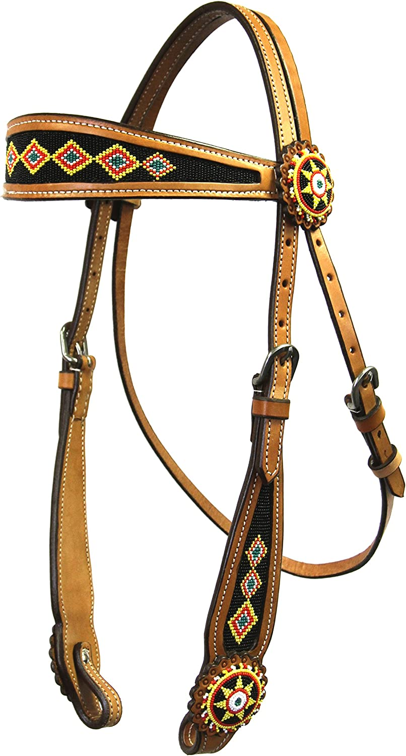 colorado Saddlery 581lt gold Rush Beaded Headstall 581lt, Not Applicable