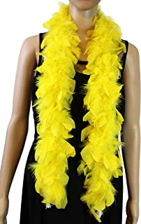 1920s Flapper Girl Bright Yellow Feather Boa