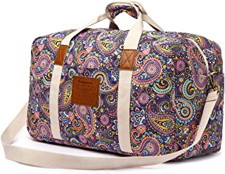purple weekender bag