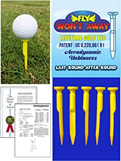New! Won't Fly Golf Tee - Never Lose Another Tee! 3