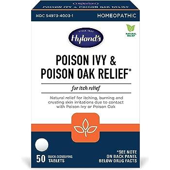 Hyland's Poison Ivy & Poison Oak Relief Treatment Tablets, 50 Count