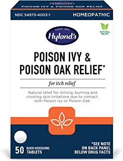 Hyland's Poison Ivy & Poison Oak Relief Treatment Tablets, 50 Count
