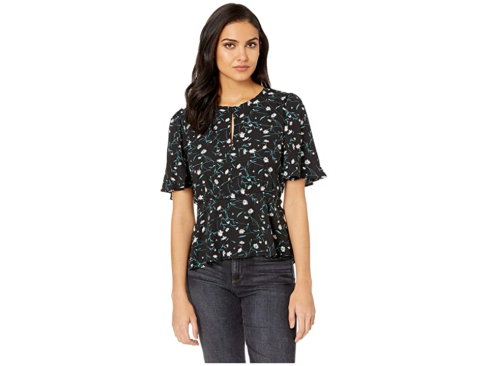 Image of Adelyn Rae Addison Woven Blouse (Black/Green) Women's Blouse