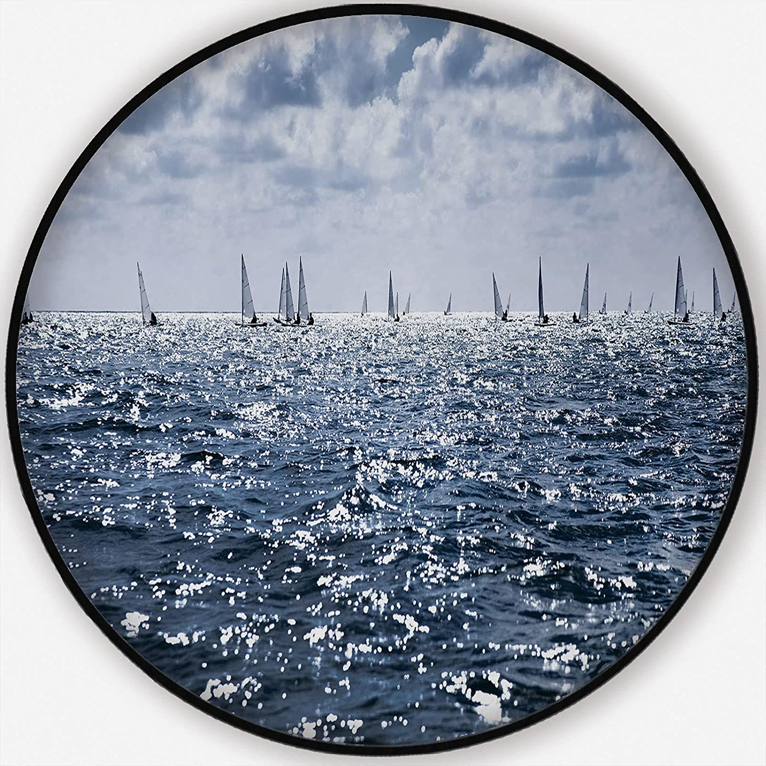Gifts Pretty Landscape of The Sea with Horizon on New product type Livin Sails Many