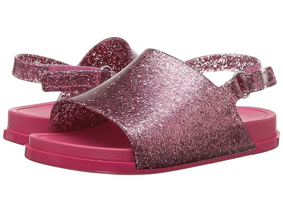 Mini Melissa Mini Beach Slide Sandal (Toddler/Little Kid) (Pink Glitter) Girls Shoes