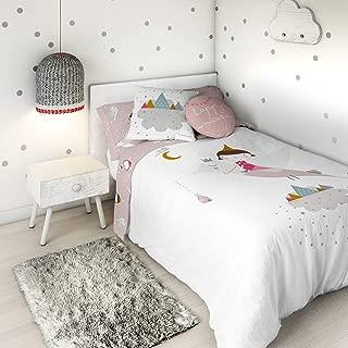 HACIENDO EL INDIO Funda nórdica Reversible Wonderland Pink Cama 90 cm