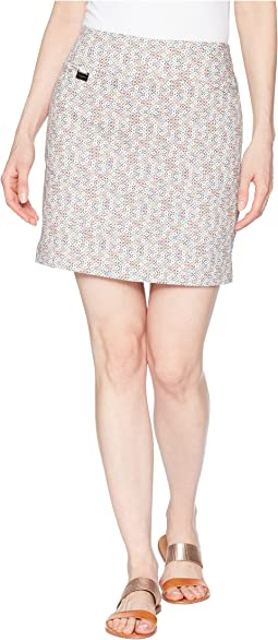 Color Box Print Skort