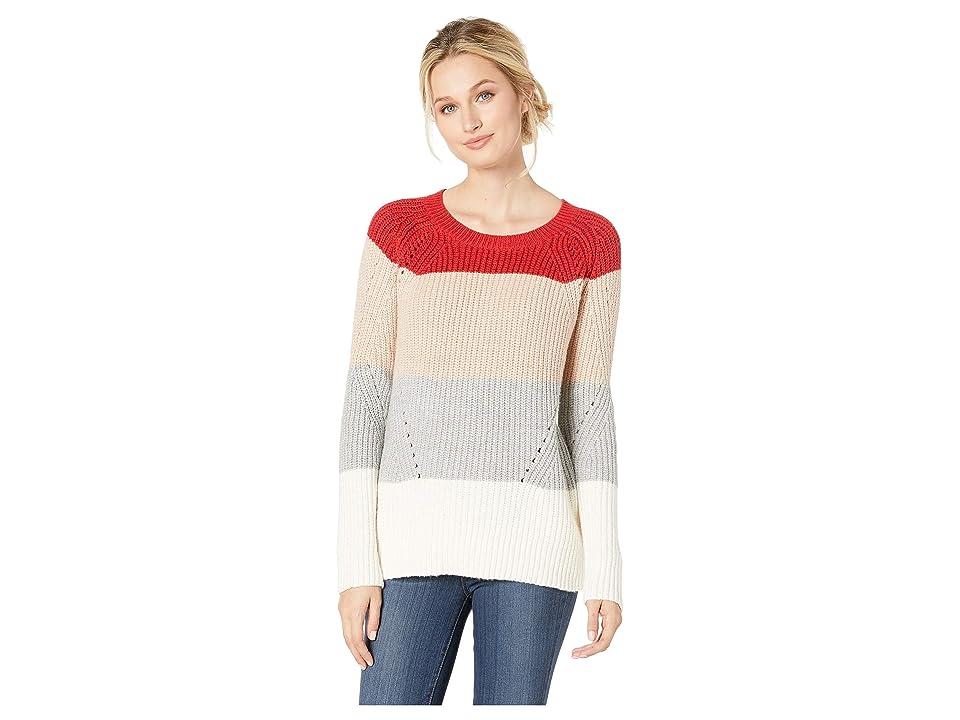 Lucky Brand Crew Neck Pointelle Sweater (Multi) Women