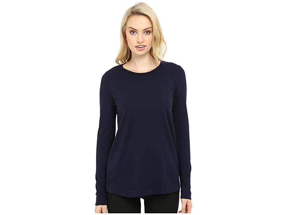 Three Dots Kale Long Sleeve Top (Night Iris) Women