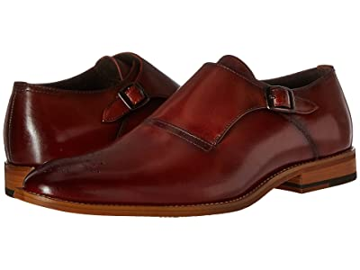 Stacy Adams Dinsmore Plain Toe Monk Strap (Cognac) Men