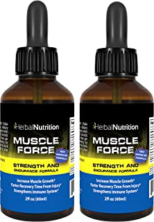 #1 Rated MUSCLE FORCE Strength and Endurance Spray! | Two Bottle Pack! | 200mg Proprietary Growth Formula | Improve Streng...