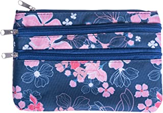 Zippered Lined 8 x 5 Microfiber Fabric Coin Purse Pouch