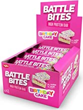 Battle Bites High Protein and Low Carb Sugar Bars 12 x 62 g – Birthday Cake Estimated Price : £ 18,90
