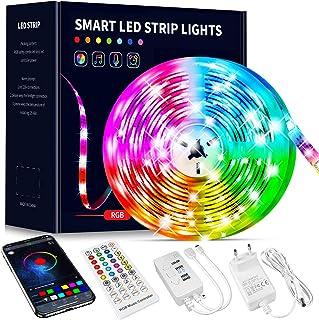 Beaeet Ruban Led 10M, Bande Led 5050 RGB , Led Ruban Lumineuse Flexible Multicolore avec Télécommande 40 Touches,Utilisé p...